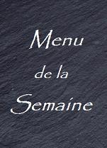 menu de la semaine Perle de Thé